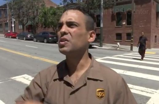 Video: Witness says he saw first shot at UPS Center, ran for his life