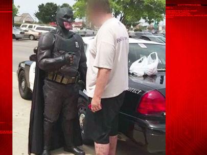 Off-duty cop dressed as Batman busts shoplifter taking 'Lego Batman'