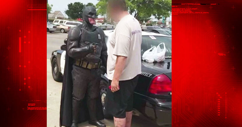 Off-duty cop dressed as Batman busts shoplifter taking 'Lego Batman' movie