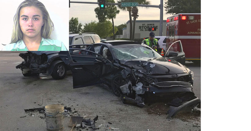 Florida woman arrested for letting 12-year-old girl drive car involved in crash