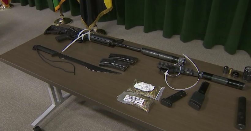 Deputies arrest man seen urinating at Sierra Madre Gold Line Station, find cache of weapons in bag
