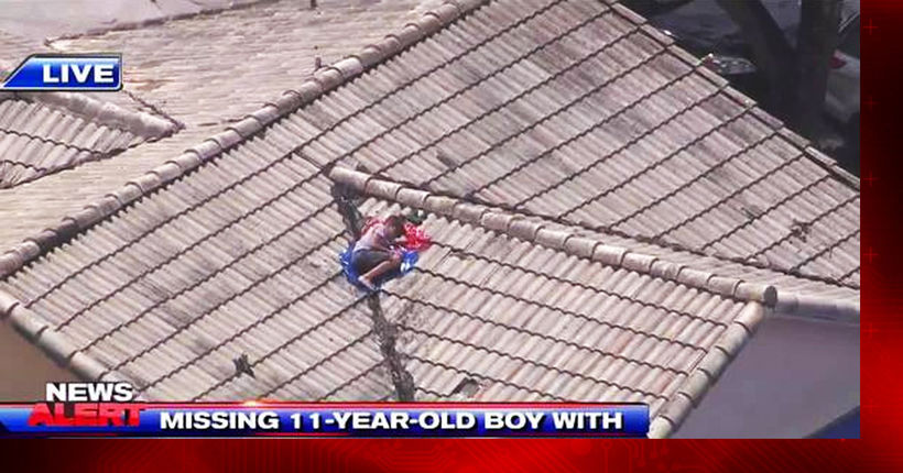 Missing boy who didn't want to go to camp found on roof by TV news helicopter