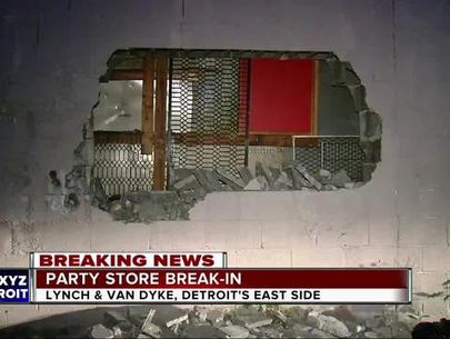 Thieves break through wall of Detroit liquor store