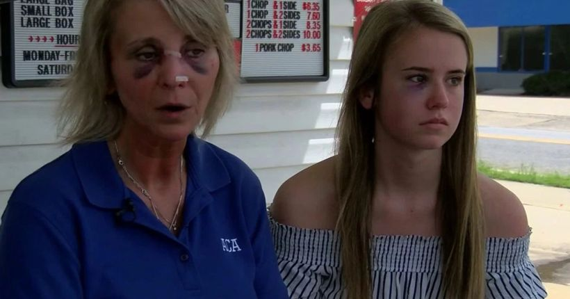 Couple attacks mom, daughter over cold chicken