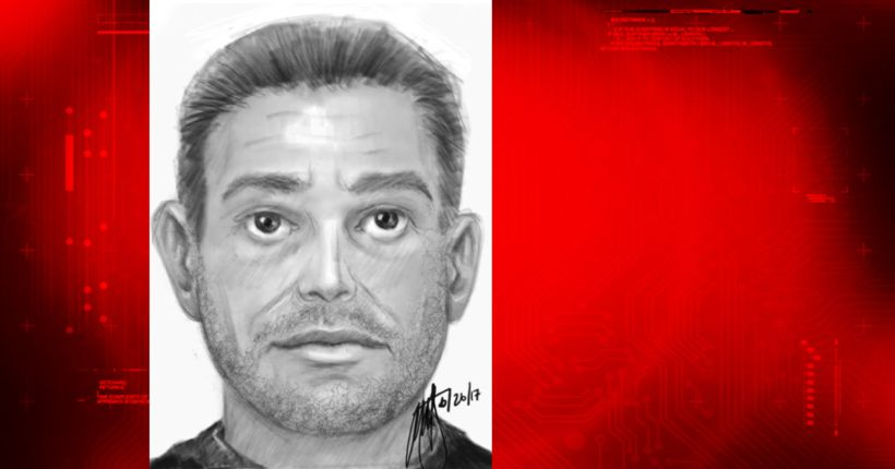 Riverside Police release sketch of man accused of sexually assaulting girl in dumpster area of church
