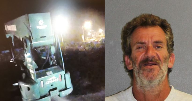 Florida man 'tired of walking' steals forklift, police say