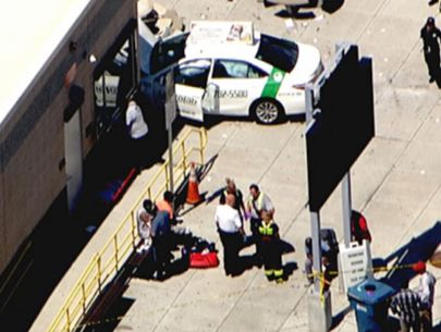 Taxi crashes into group of pedestrians in East Boston