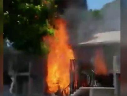 Man loaded propane tanks in car, drove into building: Police