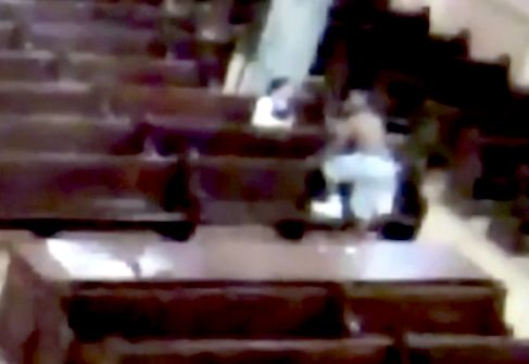 Video shows shirtless man threatening to kill nun inside Brooklyn church: NYPD