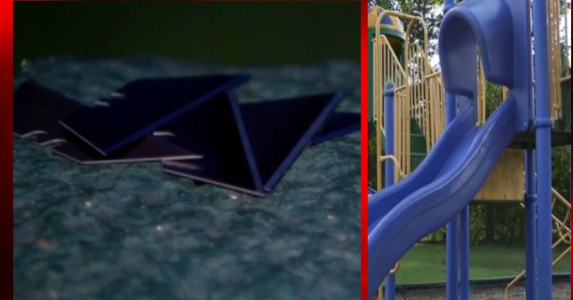 Razor blades found in Texas playground slide