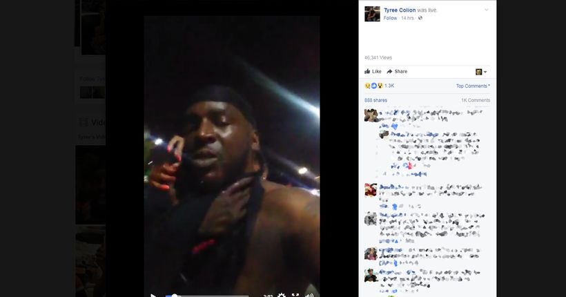 Baltimore rapper stabbed in the neck publishes carnage on Facebook Live