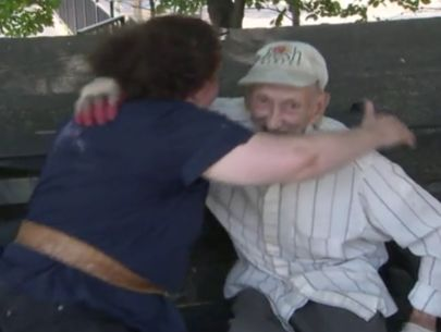 91-year-old hugs mom of teen who beat him with cane