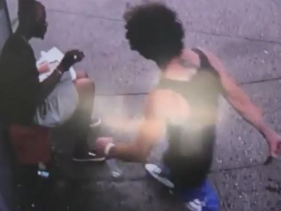 Video: Man fatally stabbed while eating bagel outside deli
