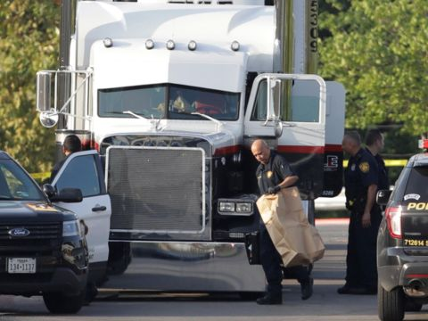 8 people dead, 30 hospitalized after discovered in tractor trailer