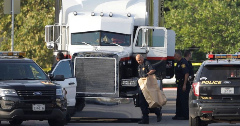 8 people dead, 30 others hospitalized after discovered in tractor trailer outside Walmart