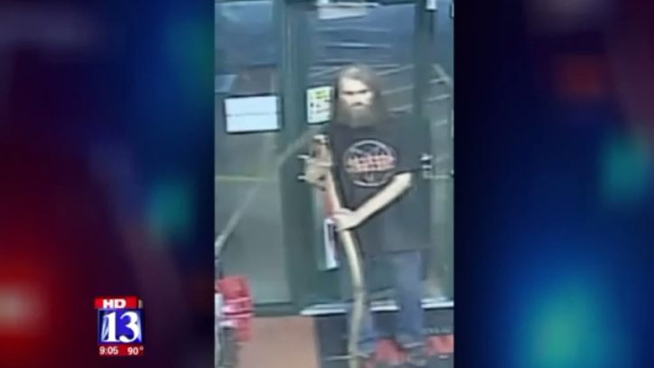 Clerk says she may quit working 'grave' shifts after suspect wielding scythe makes threats