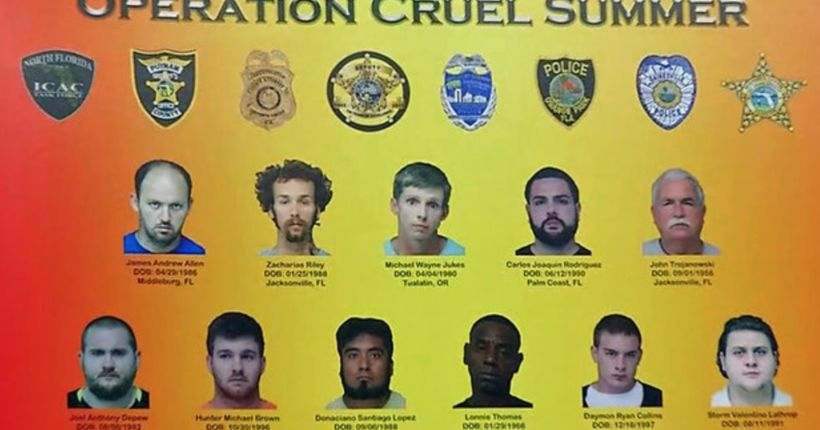 17 accused of traveling to meet children for sex
