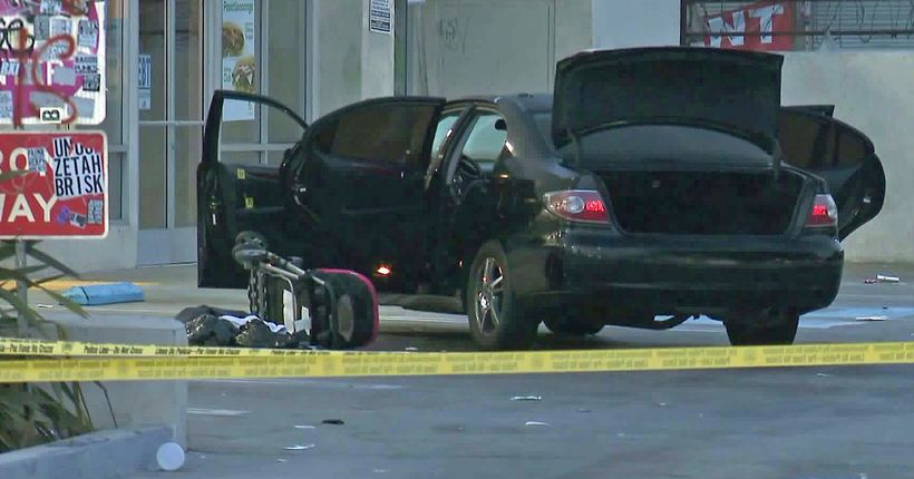 Mother killed when gunman opens fire on family of 4 driving in South L.A.