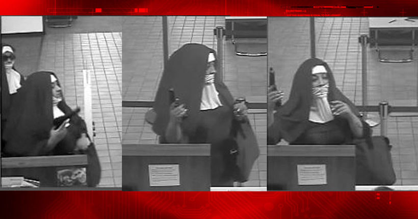 Robbers dressed as nuns attempt bank heist