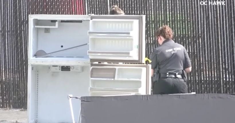 Young man's body found in refrigerator on street in Ontario, prompting investigation