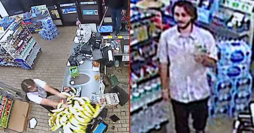 Video shows man trashing Santa Ana 7-Eleven, causing $2,000 in damages after being denied use of phone