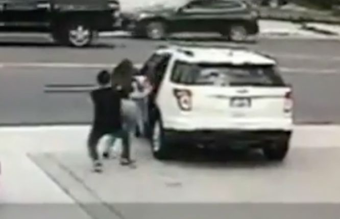 Surveillance video captures man being dragged by car after phone theft at Arcadia gas station
