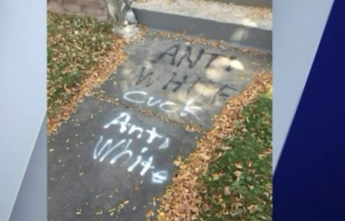 Gay couple's home targeted by racist graffiti in Lincoln Square