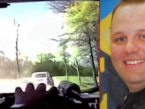 Hero cop survives execution attempt after pursuit, shootout