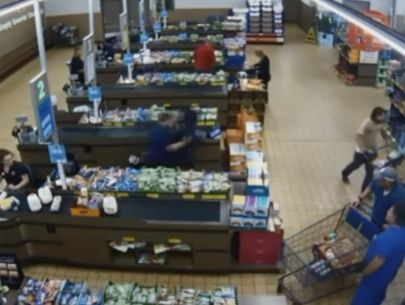 Police release video of customers tackling would-be robber