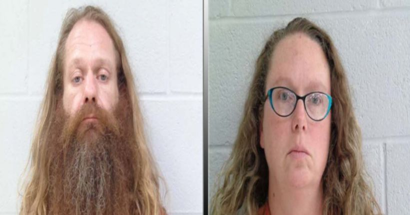 Oklahoma couple arrested after children found living in filthy conditions