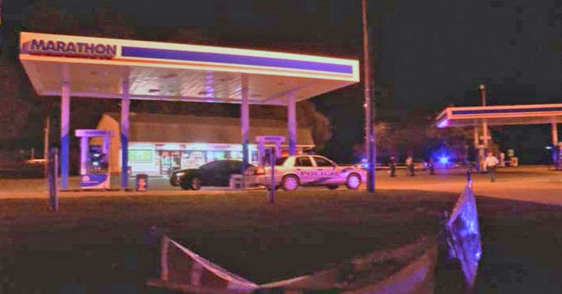 Pizza delivery driver killed helping woman at gas station