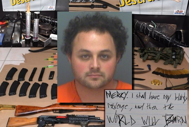 Florida man arrested after explosives, guns, school maps found
