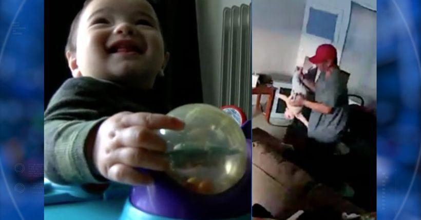Man arrested after nanny cam caught him dangling 8-month-old upside down