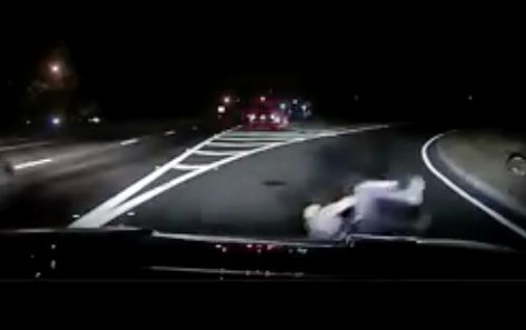 Video: New Jersey cop narrowly escapes being hit by car