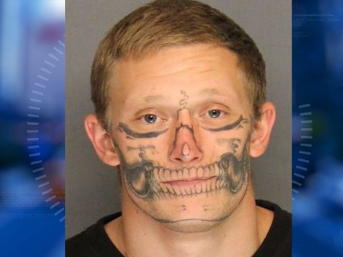 Inmate with facial skull tattoo escapes California work crew
