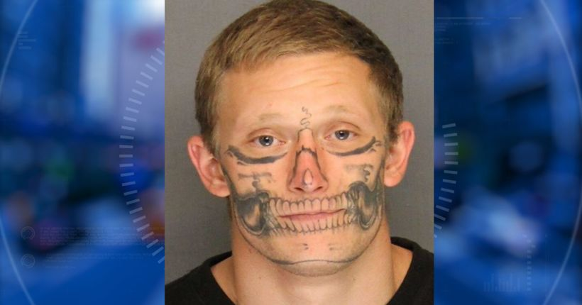 Inmate with skeleton-type facial tattoos recaptured after disappearing from work crew in Stockton