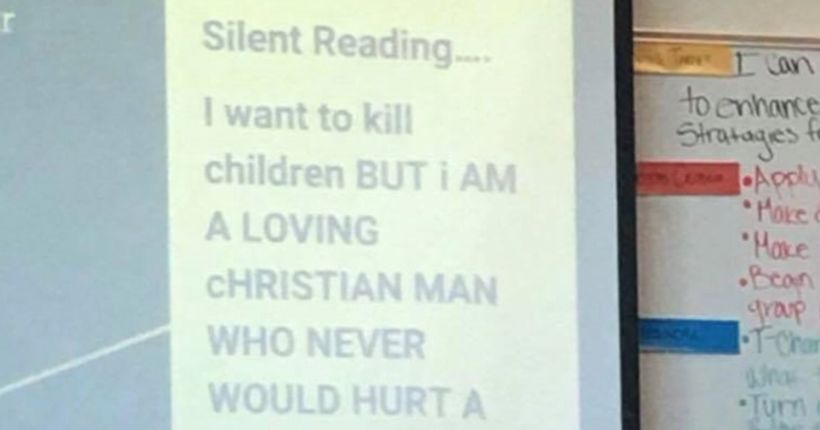 'I want to kill children:' Commerce City school investigates message on teacher's projector