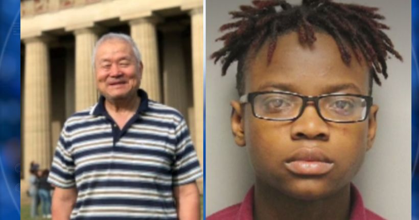 Girl, 16, charged with killing 74-year-old man as he took out trash