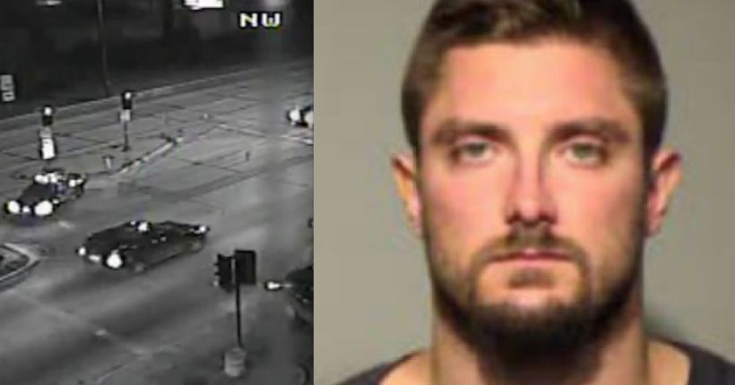 St. Francis man faces OWI charges, accused of driving wrong way on I-794, crashing into 6 light poles