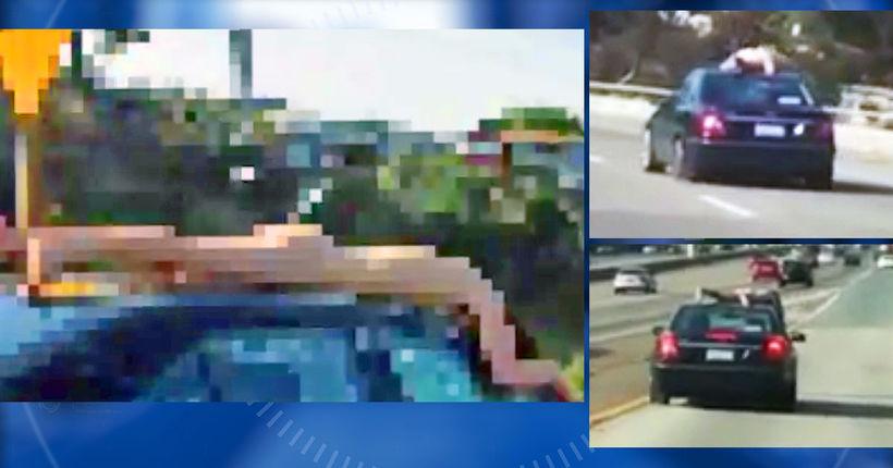 Naked man rides 'Superman-style' on San Diego freeway