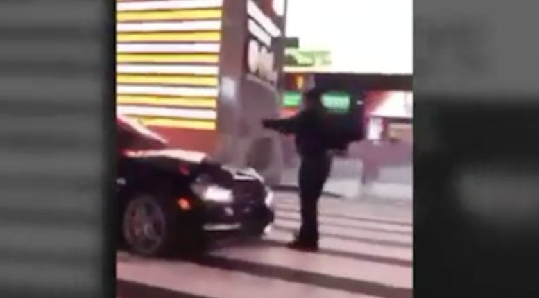 Police officer dragged by car in Times Square during traffic stop