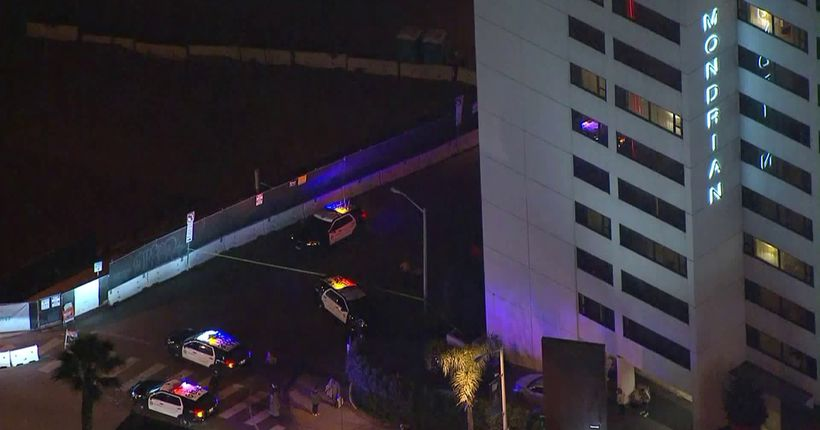 Man upset after staff made him get rid of his marijuana opens fire outside hotel in West Hollywood, authorities say