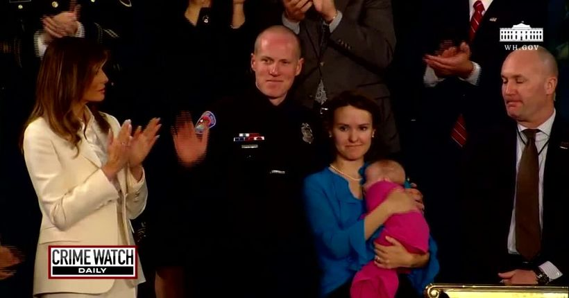 Officer, a father of 4, adopts drug-addicted stranger's baby