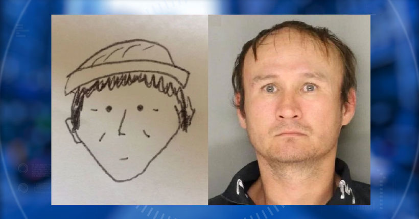 Police identify theft suspect from hand-drawn sketch