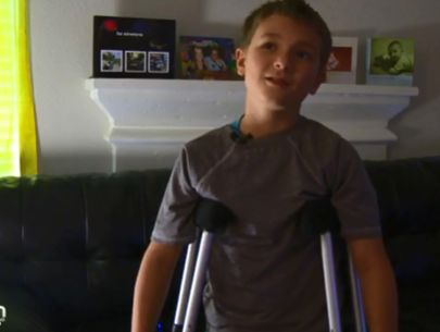 Boy crawls a quarter of a mile home after hit-and-run