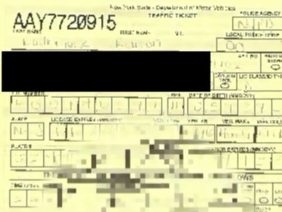 Cop who drew offensive scrawl on ticket disciplined, charges dropped