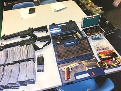 Weapons found after safety officer helps thwart alleged school shooting plot