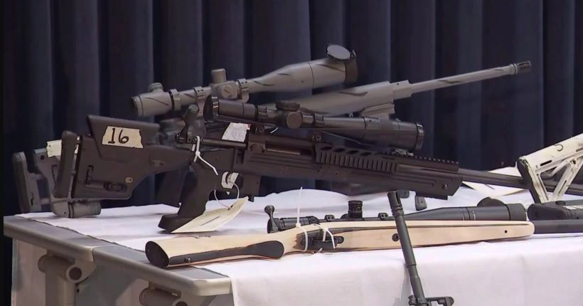 Father-daughter pair charged after assault rifles, 66,000 rounds of ammunition found in gun cache