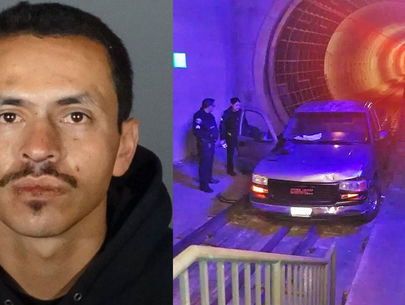 Car-theft suspect leads police chase onto tracks in Metro train tunnel