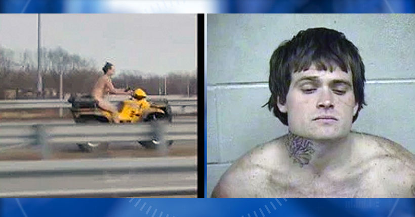 Naked man who fled police on ATV through Kansas City now facing multiple charges